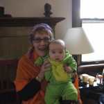 Dino Baby and the gypsy version of Grandma Kay!